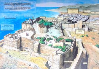 Castillo de gibralfaro en la antiguedad.jpg